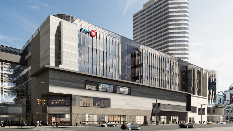 A rendering shows a new 346,000 square foot BMO campus that is planned for the corner of Yonge and Dundas streets. (BMO)