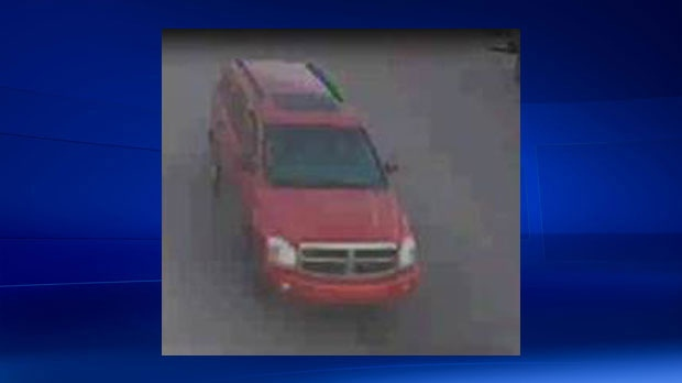 Police are still looking for the driver of a red Dodge Durango, who dropped the accused off at a gas station.
