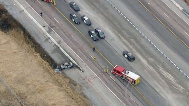 Hwy. 401 reopens after woman hit by transport in Toronto
