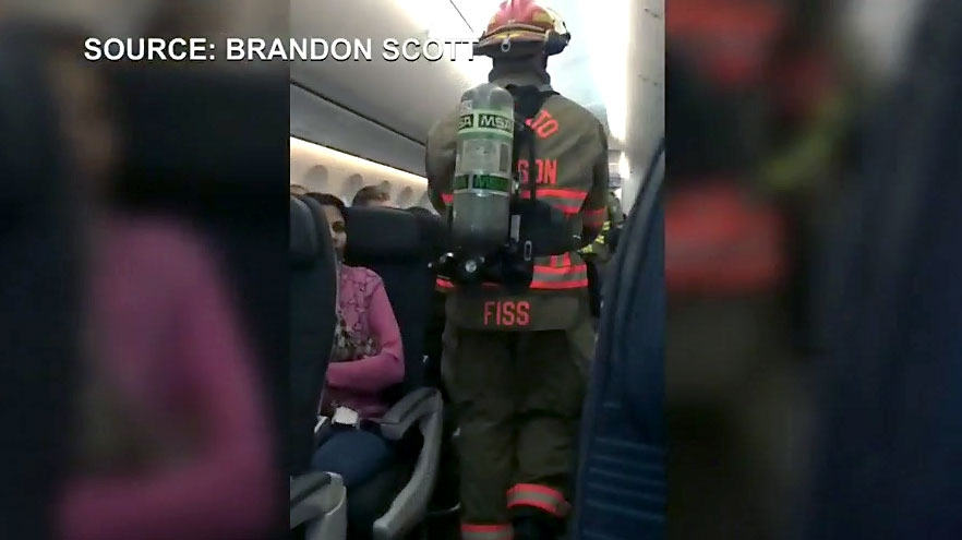 Phone catches fire on Air Canada flight