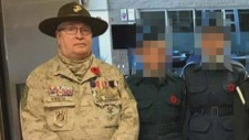 Peter Toth appeared at three Red Deer schools for Remembrance Day ceremonies. Supplied.