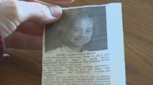 When Keira passed away, her family wrote her obituary and paid to publish it in a Winnipeg newspaper (pictured).