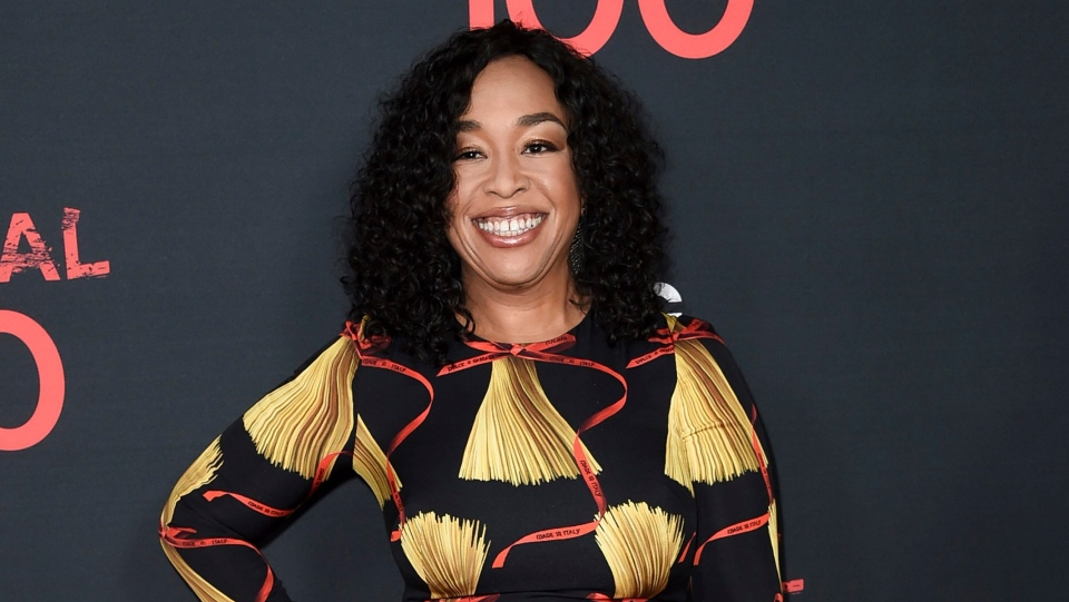 """FILE - In this April 8, 2017, file photo, Shonda Rhimes attends the """"Scandal"""" 100th Episode Celebration at Fig & Olive in West Hollywood, Calif.  (Photo by Richard Shotwell/Invision/AP, File)"""