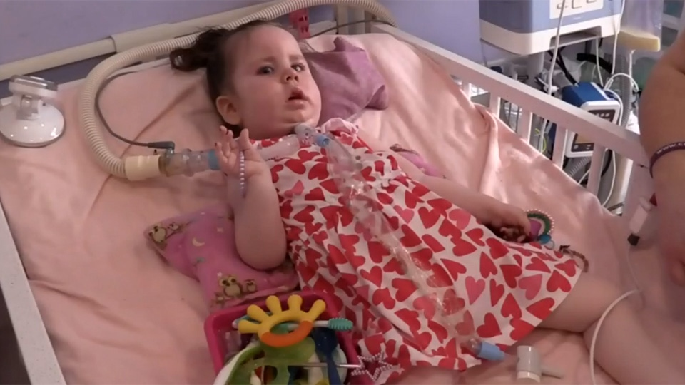 Lilah Lamont has Type 1 SMA, and relies on a ventilator to breathe.