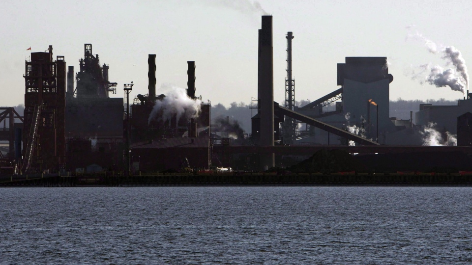 Steel mills in Hamilton, Ont., operate on March 4, 2009. THE CANADIAN PRESS/Frank Gunn