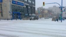 Snow in Saskatoon.