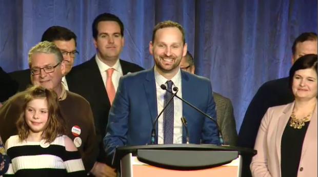 Ryan Meili speaks after Sask. NDP leadership win
