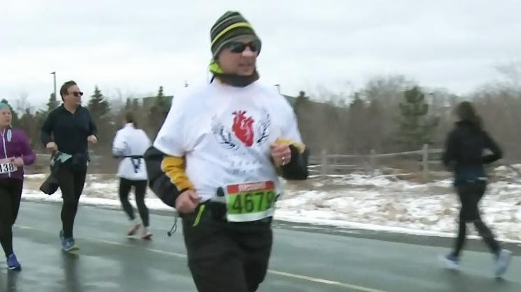 John Dickhout runs in Ottawa, Ont.