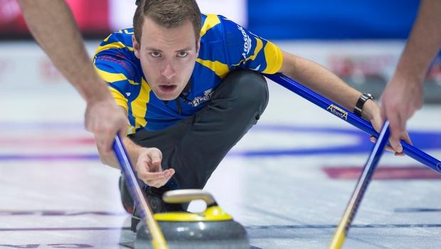 Alberta skip Brendan Bottcher at the Brier