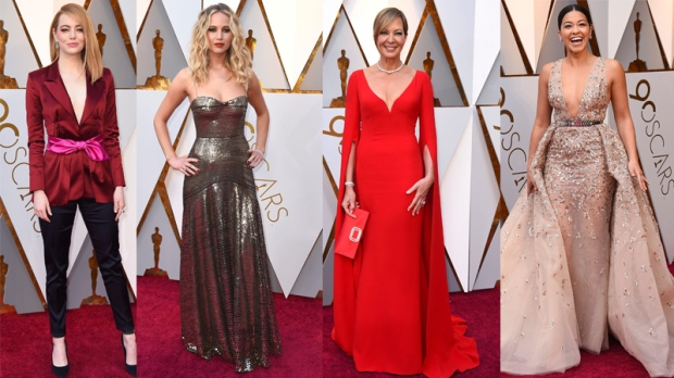 Stars walk the red carpet at the 2018 Oscars