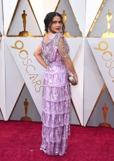 Salma Hayek arrives at the Oscars