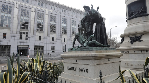 Controversial statue coming down in California