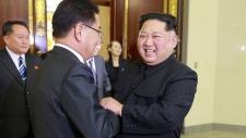 Kim Jong Un meets Chung Eui-yong in Pyongyang