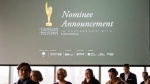 FILE - The Academy of Canadian Cinema and Television announced nominations in the film, television and digital media categories for the 2018 Canadian Screen Awards, in Toronto on Tuesday, January 16, 2018. THE CANADIAN PRESS/Christopher Katsarov