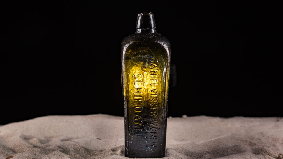 This bottle found in Australia was originally thrown overboard with a message inside from a German boat in 1886. (Kym Illman)