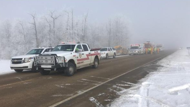 Teenage girl killed in school bus crash north of Edmonton