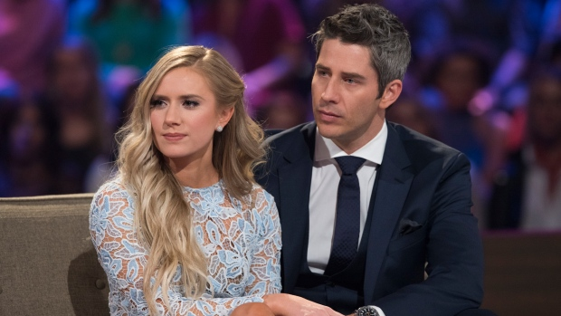 Lauren Burnham, left, and Arie Luyendyk Jr.