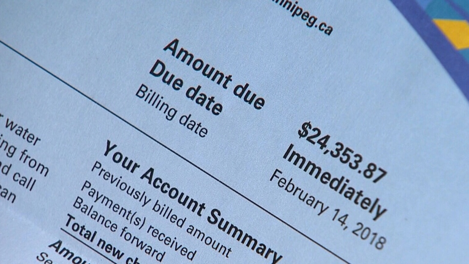 Winnipeg man gets $23,000 water bill, city says it's not a mistake