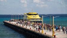 Ferry in playa del Carmen, Mexico