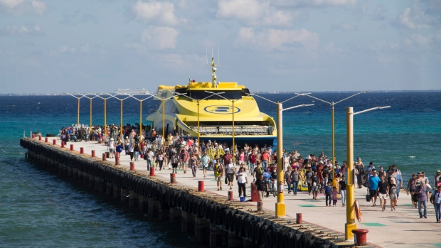 Ferry in playa del Carmen, Mexico