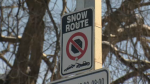 Between Dec. 1 and March 1, drivers cannot park a vehicle on a snow route between 2 a.m. and 7 a.m.