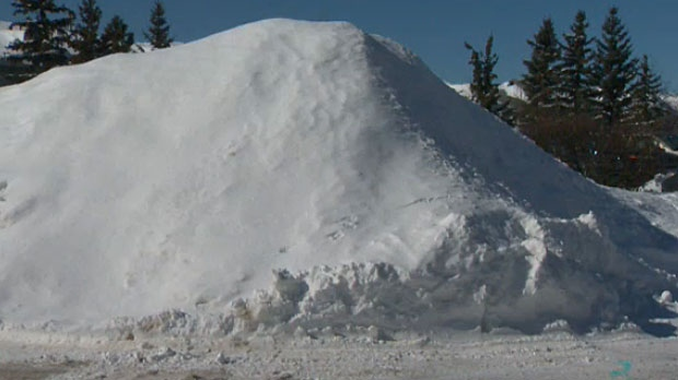 Giant piles of snow like this may be fun for some in Calgary, but many are concerned about what will happen when all of it starts to melt.