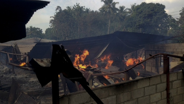 Timber depot burns in Sri Lanka