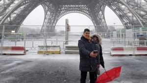 Tourists in Paris, France