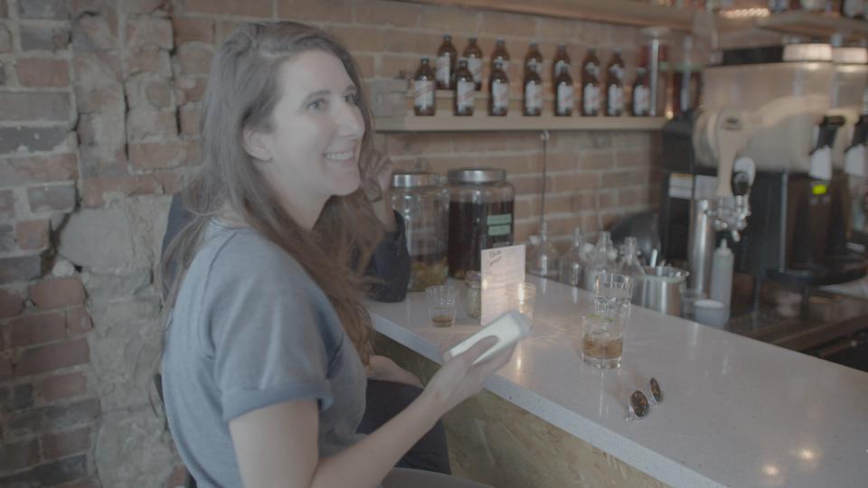 Jen Agg at her Rhum Corner cocktail bar in Toronto