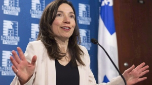 Martine Ouellet in Quebec City, on March 14, 2017. (Jacques Boissinot / THE CANADIAN PRESS)