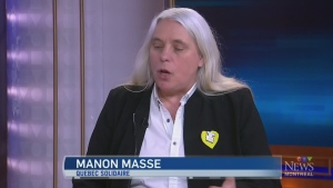 Quebec Solidaire spokesperson Manon Masse on the s