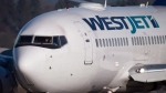 A WestJet airplane is seen in this file image.