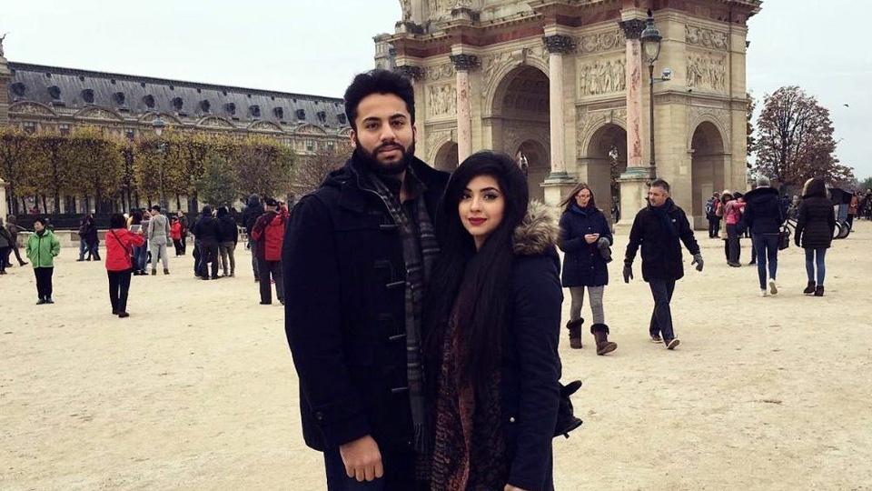 Ahmad Saleem and his wife Ayesha Riaz