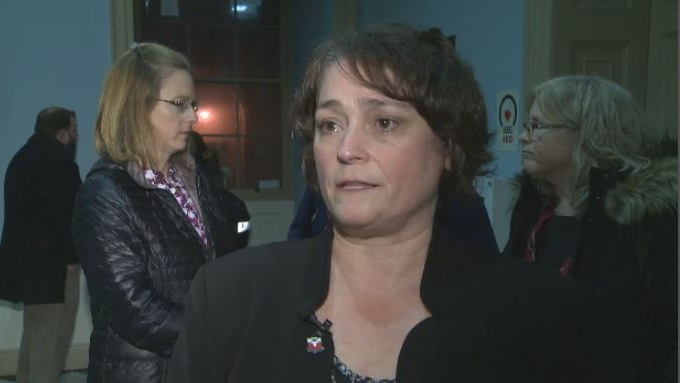 Liette Doucet, president of the Nova Scotia Teachers Union, discusses the passage of a contentious bill that makes sweeping reforms to the education system on March 8, 2018.