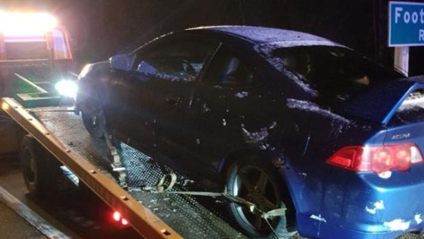 Car towed