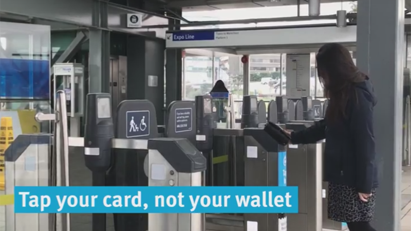 TransLink warns if people use their wallet to tap into transit, the system won't know which card to charge.