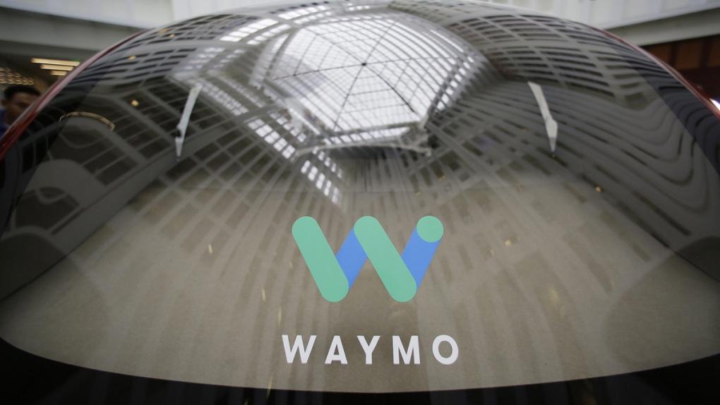 Waymo driverless car at a Google event