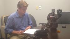 John Baglieri in CTV Saskatoon newsroom