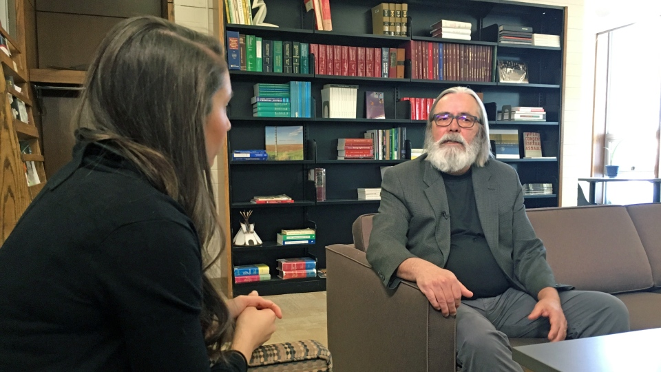 University of Saskatchewan law professor Glen Luther speaks to CTV Saskatoon's Angelina Irinici. (Chad Hills/CTV Saskatoon)