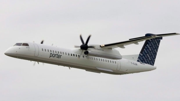 A Porter Airlines plane can be seen in this undated file photo. (File)