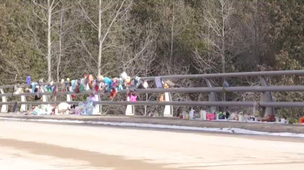 A memorial continues to grow not far from where Kaden Young went missing.