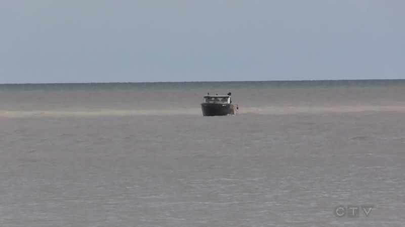 OPP search Lake Erie near Port Stanley on Saturday, March 10, 2018.