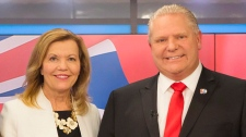 Christine Elliott and Doug Ford