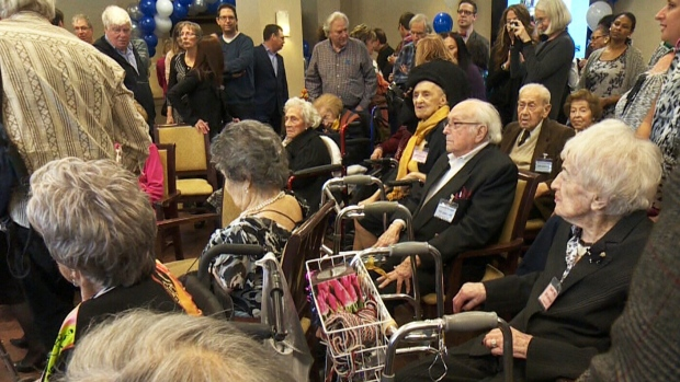 20 seniors celebrate a century of life at a Quebec retirement home