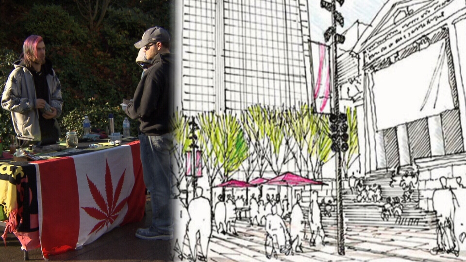 An open-air marijuana market wasn't exactly the vibrant public space the City of Vancouver envisioned when it closed Robson Square to traffic in 2016.
