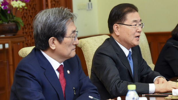 Korea's Spy Chief Meets Japanese Foreign Minister to Brief on N. Korea