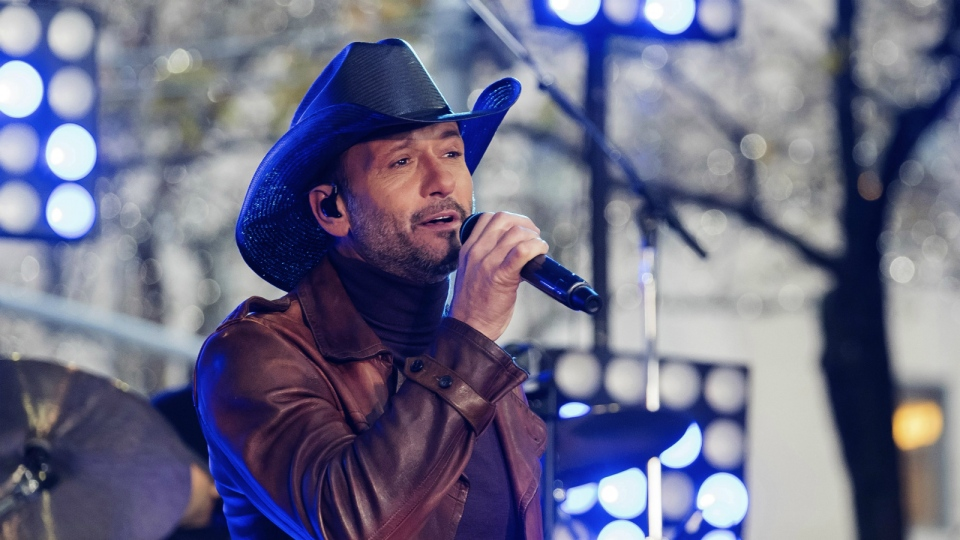 "Tim McGraw performs on NBC's ""Today"" show at Rockefeller Plaza in New York on Nov. 17, 2017. (Photo by Charles Sykes/Invision/AP, File)"