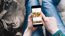 The Uber Eats app