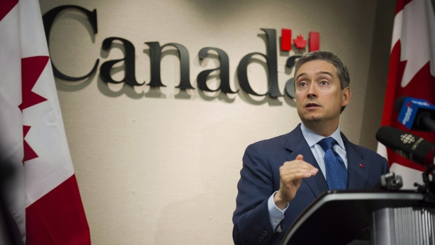 Int'l Trade Minister Francois-Philippe Champagne