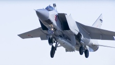 MiG-31 carries the Kinzhal hypersonic missile